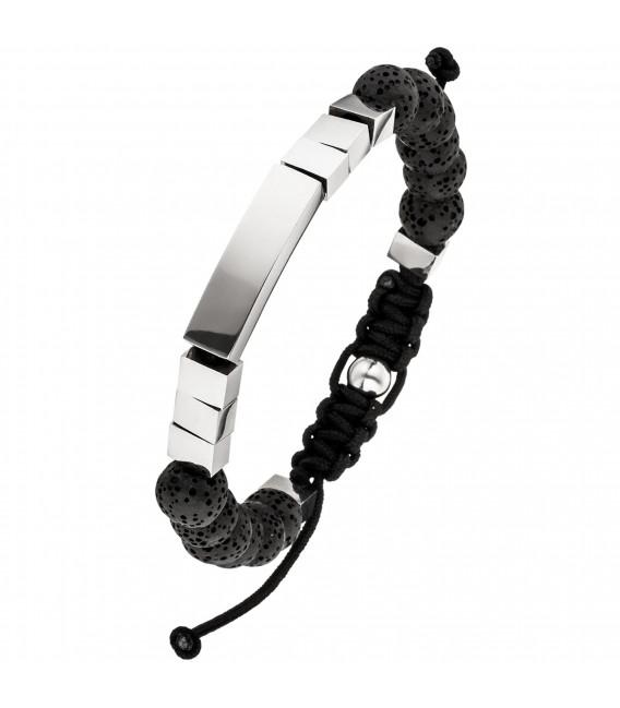 Armband Lava mit Edelstahl 23 cm verstellbar Zug-Armband Zoom