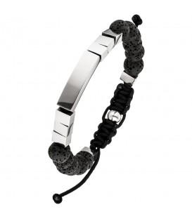 Armband Lava mit Edelstahl 23 cm verstellbar Zug-Armband Produktbild