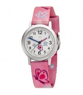 JOBO Kinder Armbanduhr Schmetterling pink rosa Quarz Analog Aluminium Kinderuhr - Bild 1