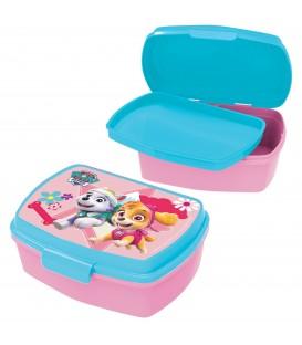 PAW PATROL Kinder Brotdose mit Einsatz aus Kunststoff rosa türkis - Bild 1