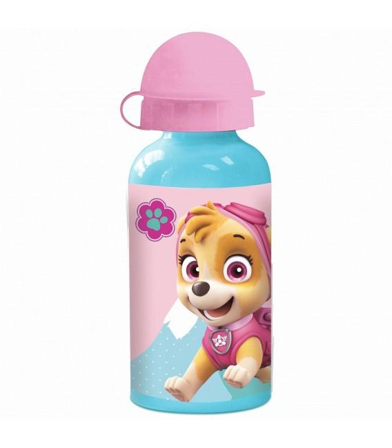 PAW PATROL Kinder Trinkflasche aus Aluminium türkis rosa 400 ml - Bild 1