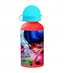 MIRACOLOUS Kinder Trinkflasche aus Aluminium rot 400 ml - Bild 1