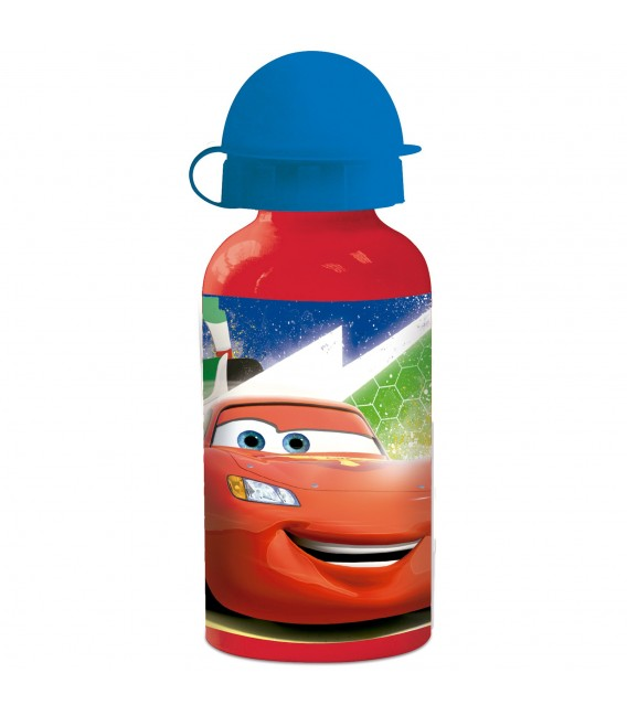 CARS Kinder Trinkflasche aus Aluminium rot 400 ml - Bild 1 Zoom