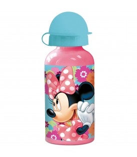 MINNIE MOUSE Kinder Trinkflasche aus Aluminium rosa 400 ml - Bild 1 Produktbild
