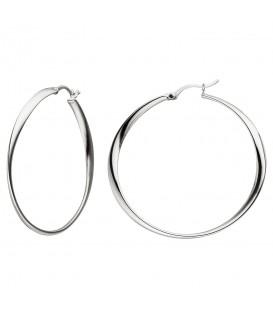 Creolen 925 Sterling Silber Ohrringe Silbercreolen Silberohrringe - Bild 1