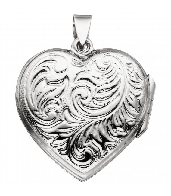 Medaillon Herz zum Öffnen für 2 Fotos 925 Sterling Silber Herzanhänger - Bild 2 ...
