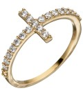 Damen Ring Kreuz 333 Gold - 51588