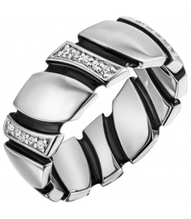 Damen Ring 925 Sterling Silber 30 Zirkonia Silberring - Bild 1