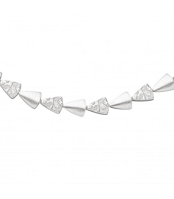 Collier Halskette 925 Sterling Silber gehämmert 45 cm Kette Silberkette - Bild 2