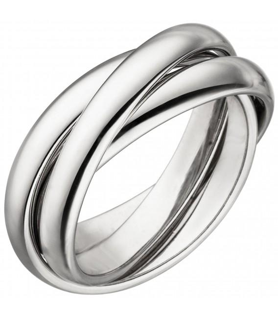 Damen Ring verschlungen aus 3 Ringen 925 Sterling Silber - Bild 1