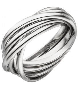 Damen Ring verschlungen 925 Sterling Silber Silberring - Bild 1
