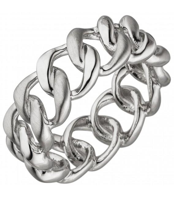 Damen Ring 925 Sterling Silber teil matt Silberring - Bild 1